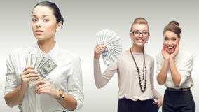 Team of young successful business women Stock Images