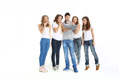 The team of young workers Stock Images