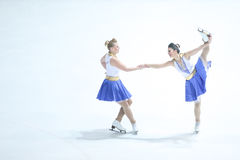Team Zagreb Snowflakes Senior duett Royaltyfri Bild