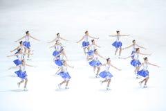 Team Zagreb Snowflakes Senior esegue Fotografia Stock Libera da Diritti