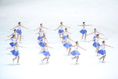 Team Zagreb Snowflakes Senior exécutent Photo libre de droits