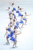 Team Zagreb Snowflakes Senior-Groep Royalty-vrije Stock Fotografie