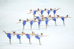 Team Zagreb Snowflakes Senior in Gruppen Stockfotos
