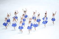 Team Zagreb Snowflakes Senior-het dansen Stock Foto's