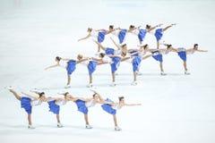Team Zagreb Snowflakes Senior i grupper Arkivfoton
