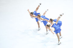 Team Zagreb Snowflakes Senior Pirouette photo libre de droits
