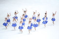 Team Zagreb Snowflakes Senior-Tanzen Stockfotos