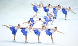 Team Zagreb Snowflakes Senior utföra Fotografering för Bildbyråer