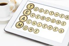 Teamacroniem in schrijfmachinesleutels Royalty-vrije Stock Afbeelding