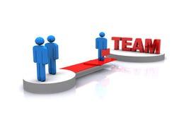 Teamarbeit der Leute 3d Stockbilder