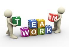 Teamarbeit der Leute 3d Stockfoto