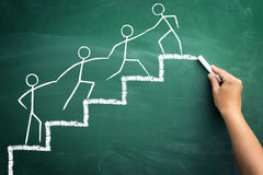 Teamarbeit für Erfolg Lizenzfreie Stockbilder