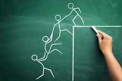 Teamarbeit für Erfolg stockbild