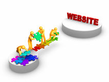 Teamarbeit für Web site Lizenzfreie Stockfotografie