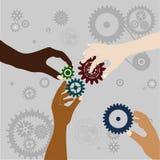 Teamarbeitshintergrund Lizenzfreie Stockbilder
