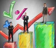 Teamarbeitsstatistik Lizenzfreie Stockfotografie