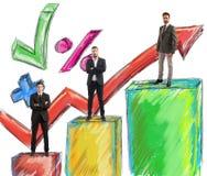 Teamarbeitsstatistik Stockfotos