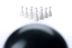 Teambowlingspiel lizenzfreies stockfoto