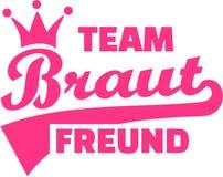 Teambraut freund deutsch lizenzfreie abbildung