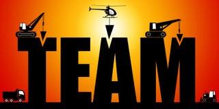 Teambuilding иллюстрация штока