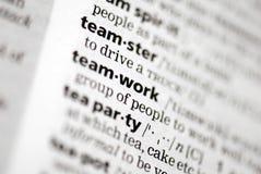 Teamdefinition in der Nahaufnahme Lizenzfreie Stockbilder