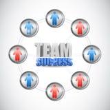 Teamerfolgsdiagrammkonzept-Illustrationsdesign Stockbild