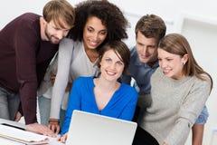 Teamführung und -erfolg stockfoto