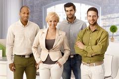 Teamfoto von erfolgreichen Wirtschaftlern stockfoto