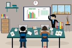 TeamGeschäftsmann ` s Job Arbeiten mit Laptop im offenen Raum Stockbild