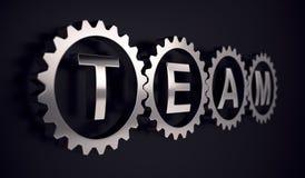 Teamgruppengangpartnerschafts-Zusammenarbeitskonzept Stock Abbildung