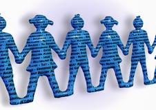 Teamhändchenhalten-Schlüsselwortteamwork besser zusammen Lizenzfreie Stockfotografie