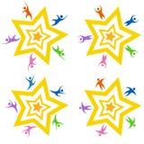 Teaming Star Set Stock Image