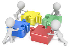 Teaminspanning Stock Foto