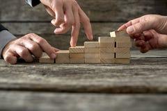 Teaminspanning op de manier aan succes Royalty-vrije Stock Foto