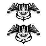 teamkammen met malplaatje dat van het adelaars het vectorontwerp worden geplaatst royalty-vrije illustratie