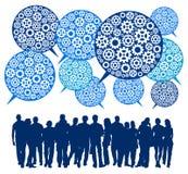 Teamkommunikation lizenzfreie abbildung