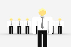 The teamleader. Group of business persons with DOF, focus on teamleader in the front Stock Image