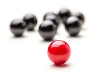 Teamleader. Concept with red and black marbles - Teamleader Royalty Free Stock Images