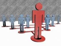 Teamleiterskizze Lizenzfreies Stockfoto