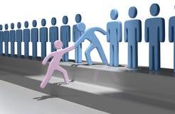 Teamleute-Hilfsperson verbinden oben Lizenzfreie Abbildung
