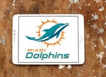 Teamlogo des amerikanischen Fußballs der Miami Dolphins Stockbilder