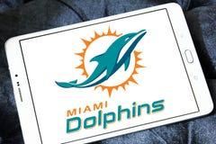Teamlogo des amerikanischen Fußballs der Miami Dolphins Stockbild