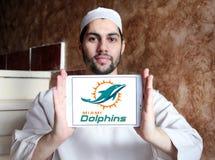 Teamlogo des amerikanischen Fußballs der Miami Dolphins Lizenzfreie Stockbilder