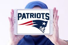 Teamlogo des amerikanischen Fußballs der New England Patriots Stockfotos