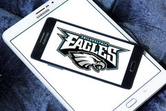 Teamlogo des amerikanischen Fußballs der Philadelphia Eagles Stockbilder