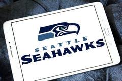 Teamlogo des amerikanischen Fußballs der Seattle Seahawks Lizenzfreie Stockfotos