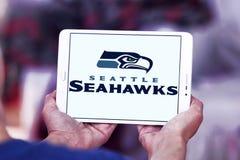 Teamlogo des amerikanischen Fußballs der Seattle Seahawks Lizenzfreie Stockbilder