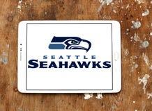 Teamlogo des amerikanischen Fußballs der Seattle Seahawks Lizenzfreies Stockbild