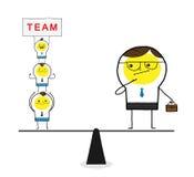 Teammacht Stock Foto