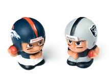Teammates Toy Figures Broncos van Li ` l versus raiders stock foto